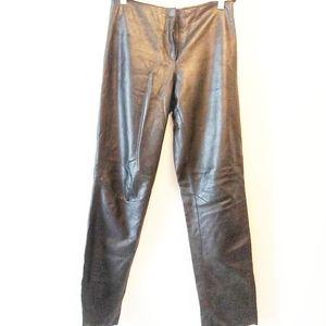 2/$50 Wilson's Black Leather Biker Pants Size 2